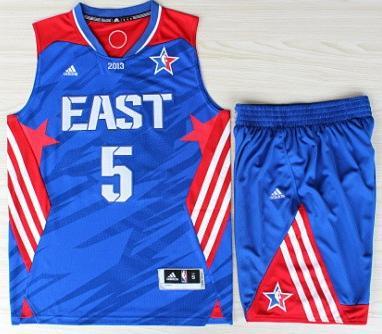 2013 All-Star Eastern Conference Boston Celtics 5 Kevin Garnett Blue Revolution 30 Swingman Basketball Suits