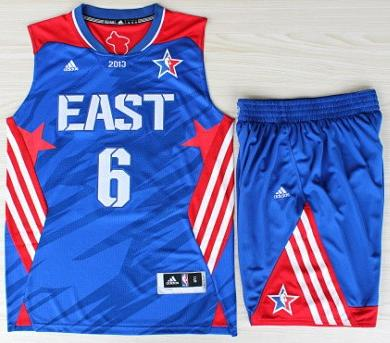 2013 All-Star Eastern Conference Miami Heat 6 LeBron James Blue Revolution 30 Swingman Basketball Suits