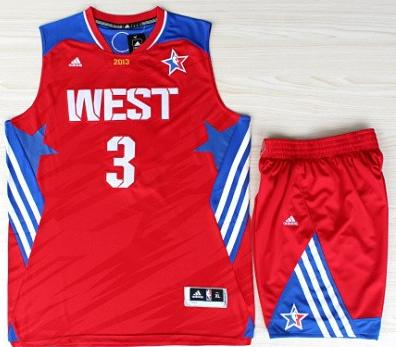 2013 All-Star Western Conference Los Angeles Clippers #3 Chris Paul Red Revolution 30 Swingman Basketball Suits