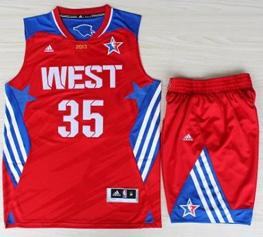 2013 All-Star Western Conference Oklahoma City Thunder 35 Kevin Durant Red Revolution 30 Swingman Basketball Suits