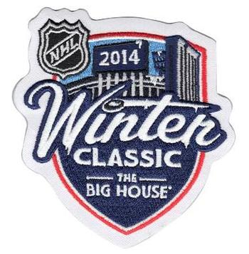 2014 Hockey Winter Classic Game Logo Patch (Detroit Red Wings vs Toronto Maple Leafs