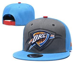 2019 Oklahoma City Thunder Team Logo Stitched Hat Adjustable Snapback GS
