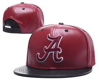 2020 Alabama Crimson Tide Team Logo Leather Stitched Snapback Adjustable Hat GS 1
