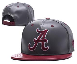 2020 Alabama Crimson Tide Team Logo Leather Stitched Snapback Adjustable Hat GS 2