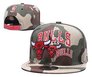 2020 Chicago Bulls Team Logo Stitched Basketball Snapback Adjustable Hat GS 3