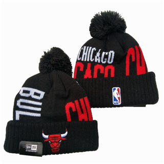 2020 Chicago Bulls Team Logo Stitched Basketball Sports Beanie Hat YD 1