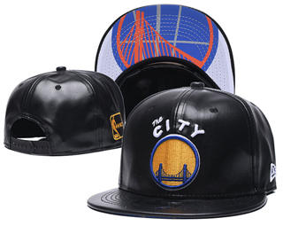 2020 Golden State Warriors Team Logo Leather Stitched Snapback Adjustable Hat GS