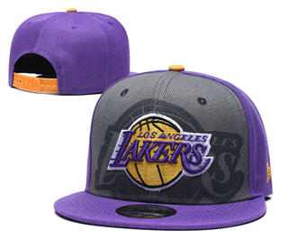 2020 Los Angeles Lakers Team Logo Stitched Basketball Snapback Adjustable Hat GS