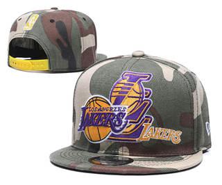 2020 Los Angeles Lakers Team Logo Stitched Basketball Snapback Adjustable Hat LH