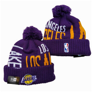 2020 Los Angeles Lakers Team Logo Stitched Basketball Sports Beanie Hat YD