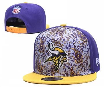 2020 Minnesota Vikings Team Logo Fashion Stitched Hat Adjustable Snapback LH