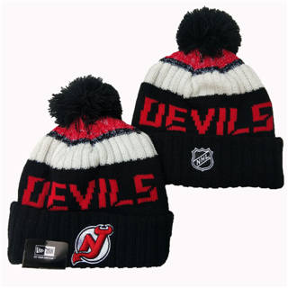 2020 New Jersey Devils Team Logo Stitched Hockey Sports Beanie Hat YD