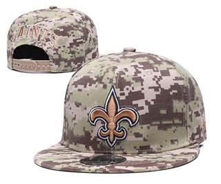 2020 New Orleans Saints Team Logo Camo Stitched Snapback Adjustable Hat GS 1