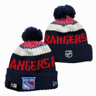 2020 New York Rangers Team Logo Stitched Hockey Sports Beanie Hat YD