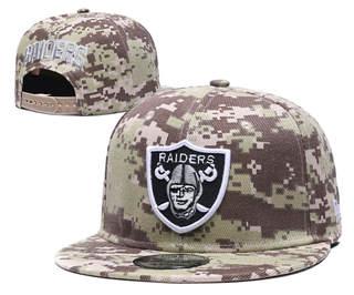 2020 Oakland Raiders Team Logo Camo Stitched Snapback Adjustable Hat GS 1