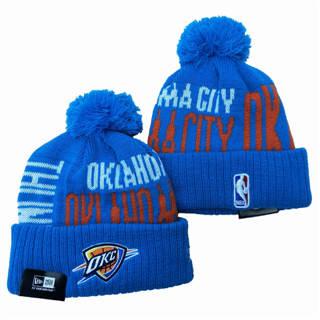 2020 Oklahoma City Thunder Team Logo Stitched Knit Hat Sports Beanie Hat YD