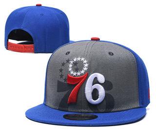 2020 Philadelphia 76ers Team Logo Stitched Basketball Snapback Adjustable Hat GS