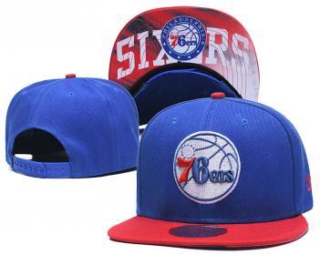 2020 Philadelphia 76ers Team Logo Stitched Basketball Snapback Adjustable Hat LH