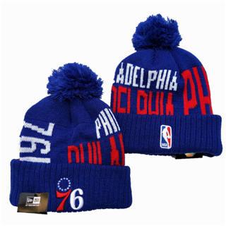 2020 Philadelphia 76ers Team Logo Stitched Basketball Sports Beanie Hat YD