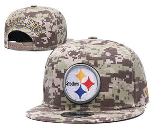 2020 Pittsburgh Steelers Team Logo Camo Stitched Snapback Adjustable Hat GS 1