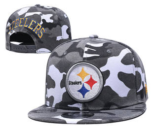 2020 Pittsburgh Steelers Team Logo Camo Stitched Snapback Adjustable Hat GS 2