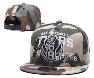 2020 San Antonio Spurs Team Logo Stitched Basketball Snapback Adjustable Hat LH