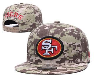 2020 San Francisco 49ers Team Logo Camo Stitched Snapback Adjustable Hat GS 1