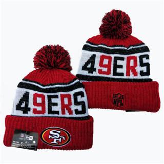 2020 San Francisco 49ers Team Logo Stitched Knit Hat Sports Beanie Hat YD