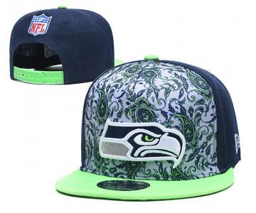 2020 Seattle Seahawks Team Logo Fashion Stitched Hat Adjustable Snapback LH