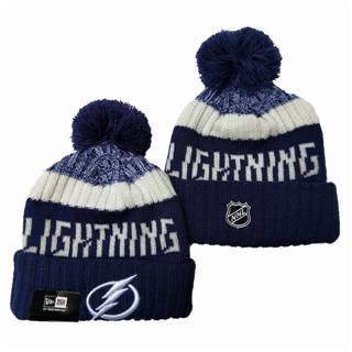 2020 Tampa Bay Lightning Team Logo Stitched Hockey Sports Beanie Hat YD
