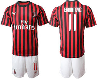 AC Milan #11 Brahimovic Home Soccer Club Jersey