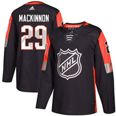 Avalanche #29 Nathan MacKinnon Black 2018 All-Star Central Division  Stitched Hockey Jersey