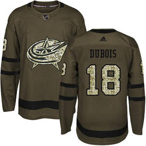 Blue Jackets #18 Pierre-Luc Dubois Green Salute to Service Stitched Hockey Jersey