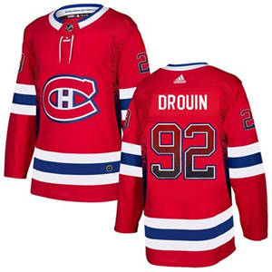 Canadiens #92 Jonathan Drouin Red Home  Drift Fashion Stitched Hockey Jersey
