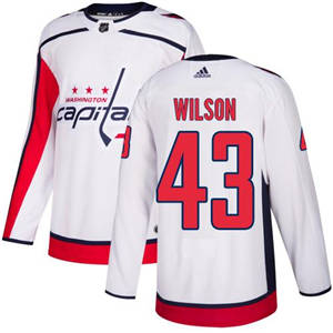 Capitals #43 Tom Wilson White Road  Stitched Hockey Jersey