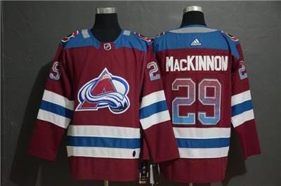 Colorado Avalanche #29 Nathan MacKinnon Burgundy Drift Fashion Men's Stitched Hockey Jersey