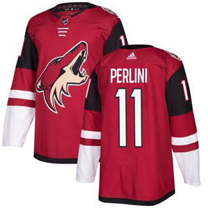 Coyotes #11 Brendan Perlini Maroon Home  Stitched Hockey Jersey