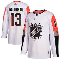 Flames #13 Johnny Gaudreau White 2018 All-Star Pacific Division  Stitched Hockey Jersey