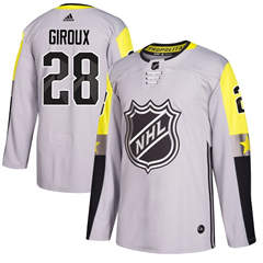 Flyers #28 Claude Giroux Gray 2018 All-Star Metro Division  Stitched Hockey Jersey