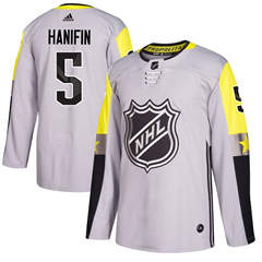 Hurricanes #5 Noah Hanifin Gray 2018 All-Star Metro Division  Stitched Hockey Jersey