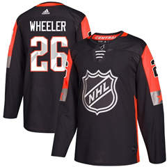 Jets #26 Blake Wheeler Black 2018 All-Star Central Division  Stitched Hockey Jersey