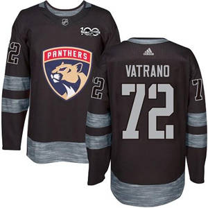 Panthers #72 Frank Vatrano Black 1917-2017 100th Anniversary Stitched Hockey Jersey