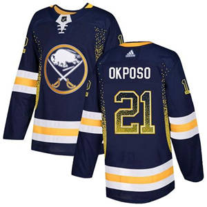 Sabres #21 Kyle Okposo Navy Blue Home  Drift Fashion Stitched Hockey Jersey