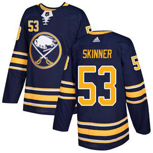 Sabres #53 Jeff Skinner Navy Blue Home  Stitched Hockey Jersey