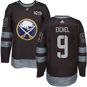 Sabres #9 Jack Eichel Black 1917-2017 100th Anniversary Stitched Hockey Jersey