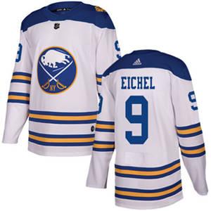 Sabres #9 Jack Eichel White  2018 Winter Classic Stitched Hockey Jersey