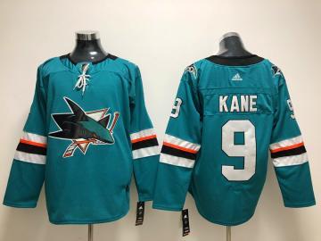 San Jose Sharks #9 Evander Kane Teal Stitched Hockey Jersey