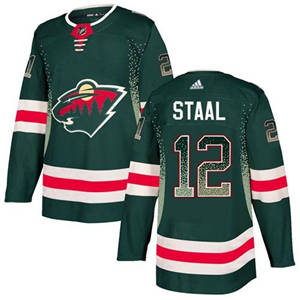 Wild #12 Eric Staal Green Home  Drift Fashion Stitched Hockey Jersey