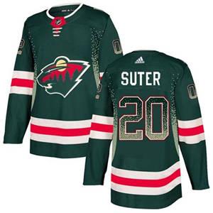 Wild #20 Ryan Suter Green Home  Drift Fashion Stitched Hockey Jersey