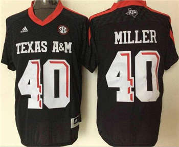 Aggies #40 Von Miller Black New SEC Patch Stitched NCAA Jersey